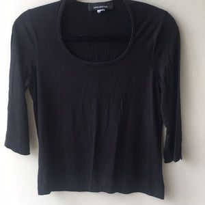 🎈3/4 Sleeve JONES NEW YORK Black Casual Top